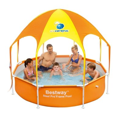 Bestway H2OGO Splash-in-Shade Play Pool Orange