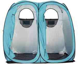 Quictent 2019 Upgraded Oversize 2 Room Pop Up Automatic Rod Bracket Shower Tent