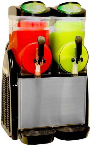 Margarita Girl Double-Bowl Full Size Slush Frozen Drink Machine