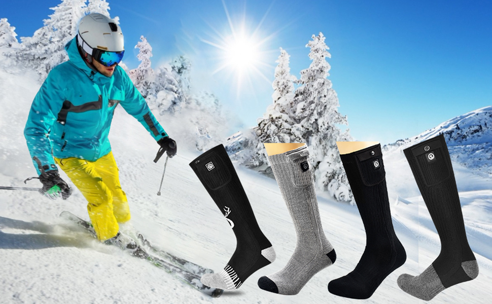 SNOW DEER Heated Socks