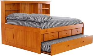 Discovery World Furniture with with 3 Drawers and Twin Trundle Daybed