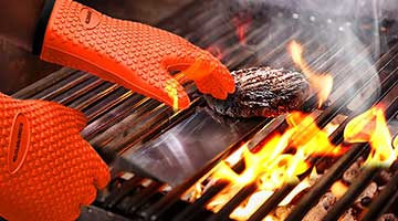BBQ Gloves Fireproof Cooking Oven Grilling Silicone Kitchen Mitts Welding gloves
