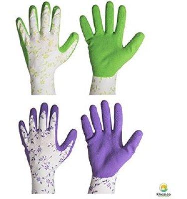 8. HandMaster Bella Leaf Print Garden Glove