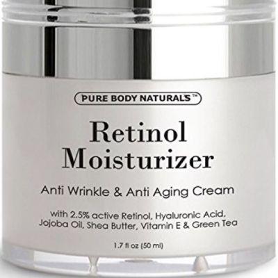1 Retinol Moisturizer Cream for Face - With Retinol, Hyaluronic Acid, vitamin e and Green Tea. Best Night and Day Moisturizing Cream 1.7 Fl. Oz.