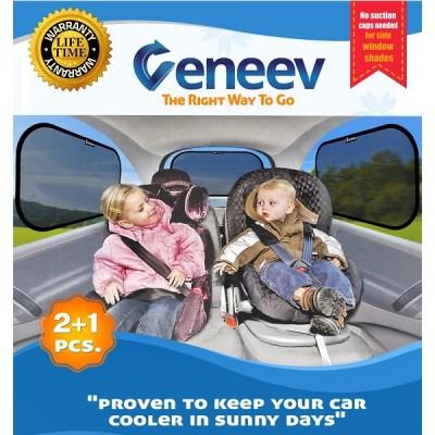 2. veneev Car Sun Shade for Side and Rear Window