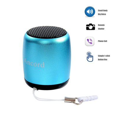 2-mini-bluetooth-speaker-portable-by-ancord-small-body-loud-voice-shutter-button-selfie-features-blue