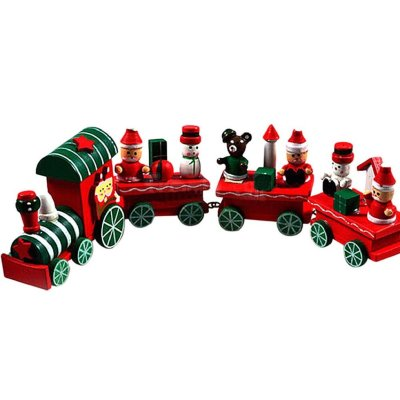 5 FEITONG®  New 4 Pieces Kids Baby Wood Christmas Train Decoration