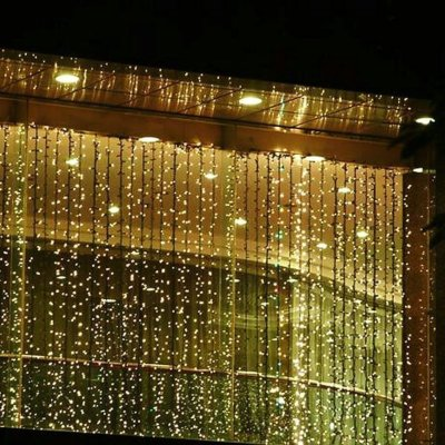 6 Outop 300led Window Curtain Icicle Lights