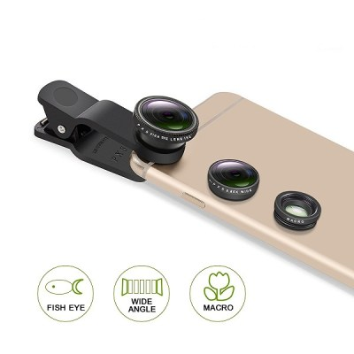 5. PLAY X STORE Universal 3-in-1 Cell Phone Camera Lens Kit