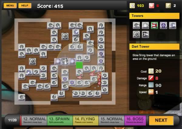 Desktop Tower Defense 1.5 em terceiro entre os melhores games de defender a torre