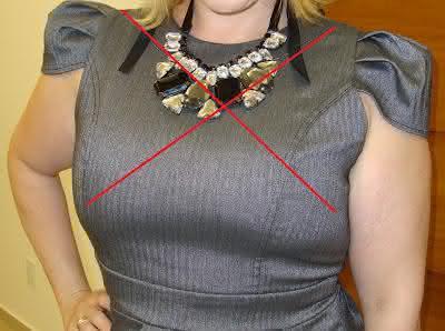 pescoco curto maxi colar
