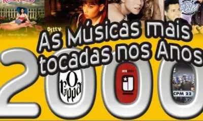 top 10 musicas mais tocadas no anos 2000