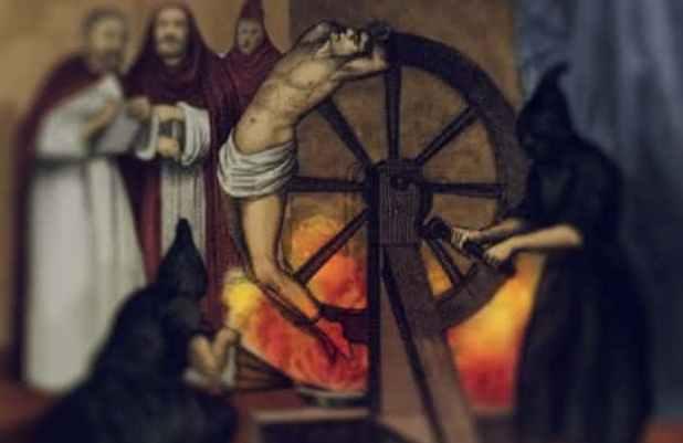 Roda de Despedacamento intrumentos de torturas idade media