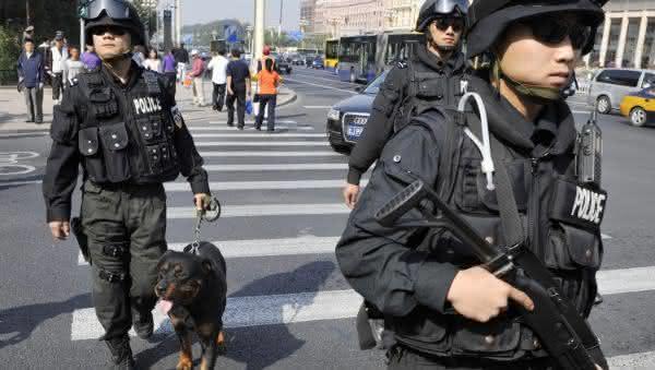 forca policial da china