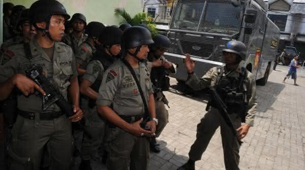 forca policial da indonesia