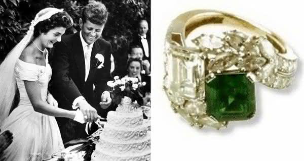 Jacqueline Kennedy aliancas mais caros