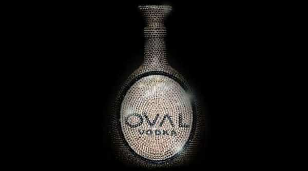 Oval Swarovski Crystal Vodka