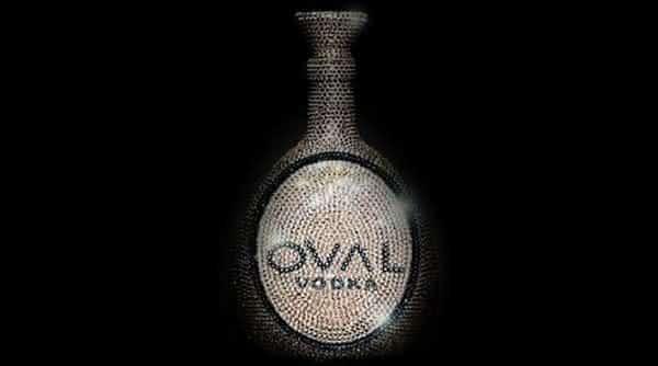 Oval Swarovski Crystal Vodka