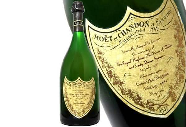 champanhe Moet e Chandon Dom Perignon Charles e Diana 1961