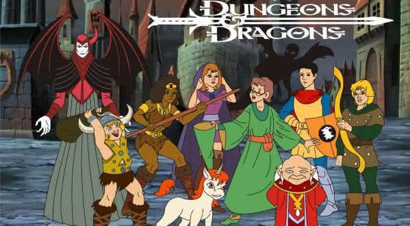 caverna do dragao desenho animado dos anos 80