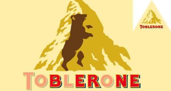 toblerone urso mensagem logo oculta
