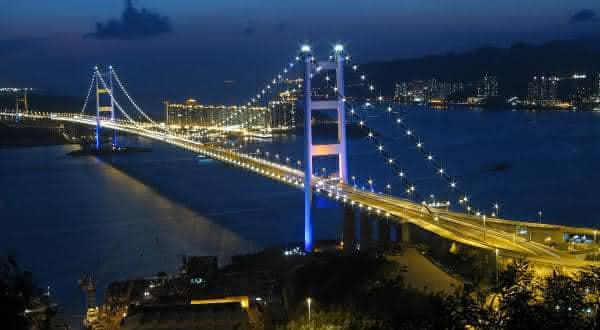 Tsing Ma Bridge China entre as pontes mais caras