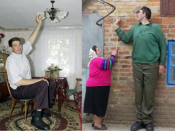 Leonid Stadnyk entre as pessoas mais altas do mundo