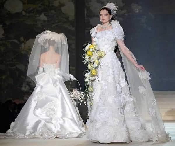 Vestido Diamante em Ouro Branco entre os vestidos de noiva mais caros do mundo