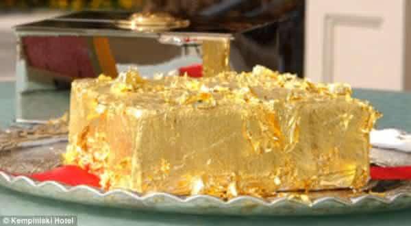 Bolo Dourado do Sultao entre as sobremesas mais caras do mundo