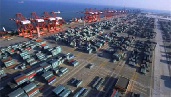 Guangzhou entre os maiores portos do mundo