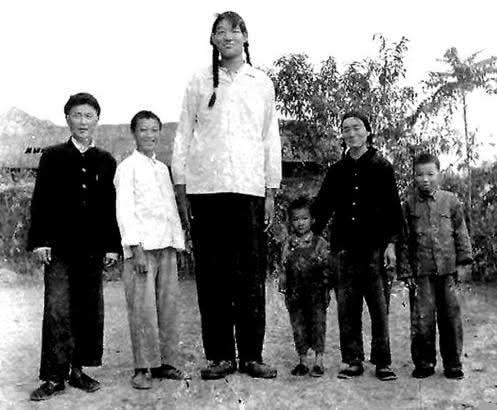 zeng jinlian entre as mulheres mais altas da historia