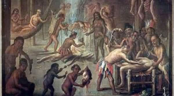 Tribos Indianas de Carib Oeste entre os mais chocantes casos de canibalismo coletivo