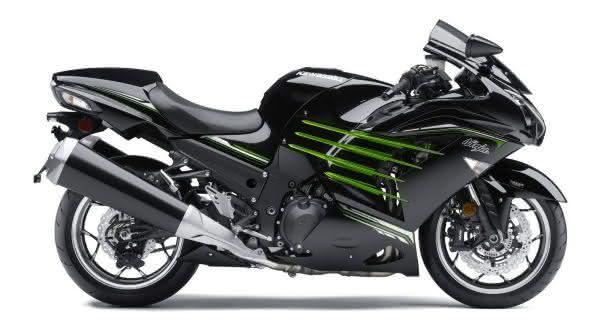Kawasaki ZZR 1400 Ninja entre as motos mais rapidas do mundo