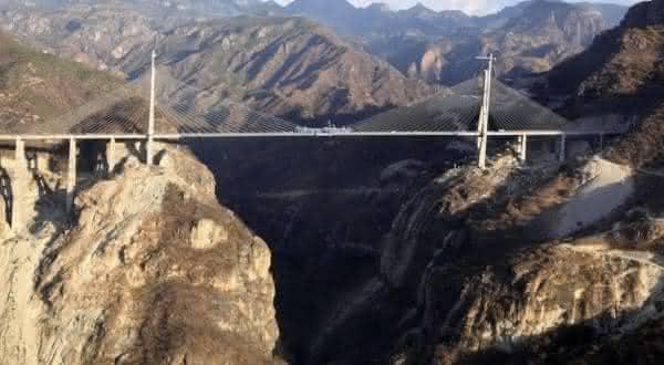 Ponte Baluarte entre as pontes mais altas do mundo