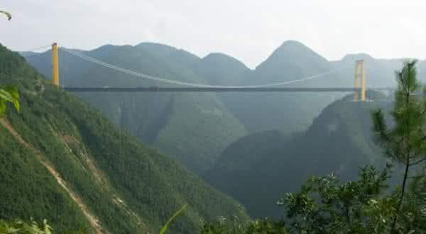 Ponte do Rio Sidu entre as pontes mais altas do mundo