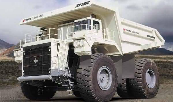 Terex MT 5500 AC entre os maiores caminhoes de mineracao do mundo