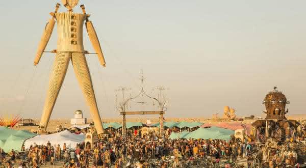 Burning Man Festival entre as festas mais populares do mundo