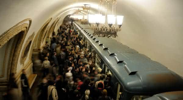 moscou Metro entre os maiores sistemas de metro do mundo