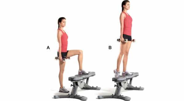 Step-Ups entre os melhores exercicios para aumentar o bumbum