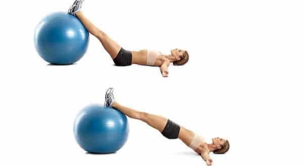 ponte com a bola entre os melhores exercicios para aumentar o bumbum