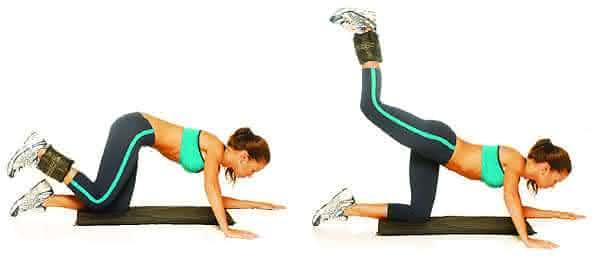 quatro apoios entre os melhores exercicios para aumentar o bumbum