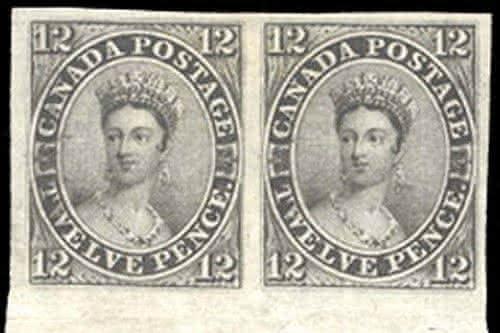 Canada 12-pence Black entre os selos mais raros do mundo