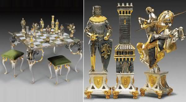 Carolingians Moors jogos de xadrez mais caros do mundo