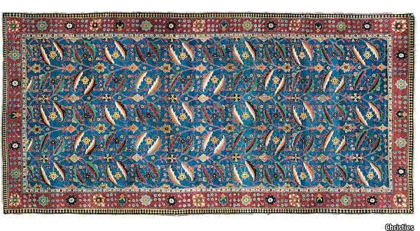 The Kirman Vase Carpet tapetes mais caros do mundo