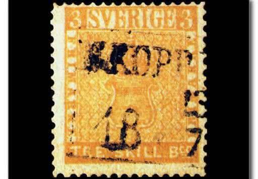 Treskilling Yellow  entre os selos mais raros do mundo