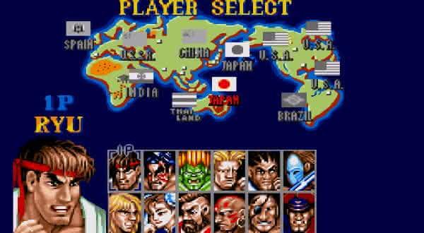 Street Fighter II Championship Edition entre os jogos de fliperama mais populares de todos os tempos