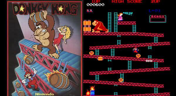 donkey kong entre os jogos de fliperama mais populares de todos os tempos