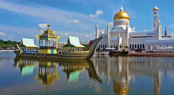 Brunei entre os paises com a maior media de moradores ricos