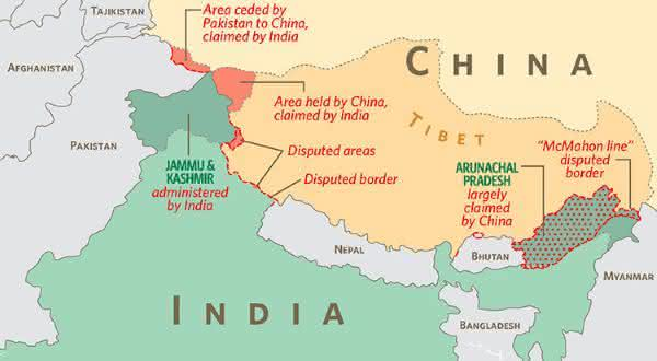 China india entre as maiores fronteiras terrestres do mundo