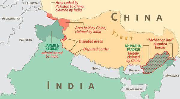 China india entre as maiores fronteiras terrestres do mundo